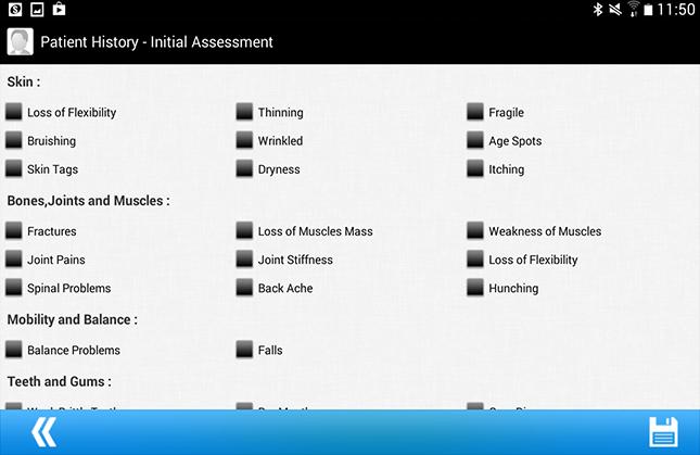 Arogita Patient History Initial Assessment