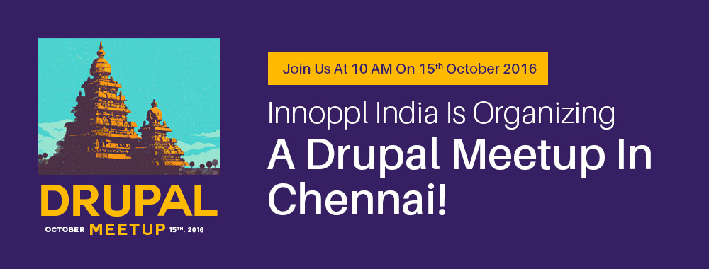 Innoppl India Is Organizing A Drupal Meetup In Chennai